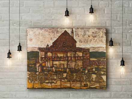 Egon Schiele: House with a Shingle Roof. Fine Art Canvas.
